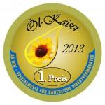 Goldmedaille 1. Preis Ölkaiser 2013 für Authentikon
