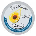 Silbermedaille 2. Preis Ölkaiser 2013 für Kalliston